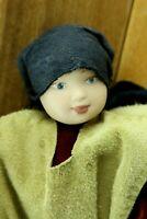 Vintage VIKING Icelandic Doll RARE Leather Costume Traditional Porcelain Head
