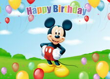 Mickey Mouse Banner Background Decoration Mickey Mouse Backdrop Photograph