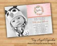 Personalised Baby Girl Baptism/Christening/Naming Day Invitation You Print File