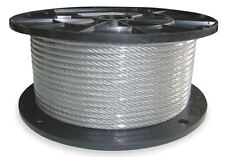 1/4In Dayton 1DLA4 Cable,250 Ft,1400 Lb Capacity,Hoist,Lifting,Free Shipping!!
