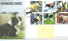 WBC. - GB-FIRST DAY COVER-FDC-commems -2008 - cani lavoro-PMK Hound VERDE