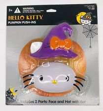 Hello Kitty Pumpkin Push Ins NIP Sealed Includes Face And Hat With Ear