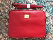 "Michael Kors Red Leather Gold Label Sleeve Laptop Case For 13"" MacBook Air/Pro"