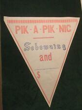 Vintage Sebewaing Brewing Co Pik-A-Pik-Nic Beer Sale Advertising Pennants