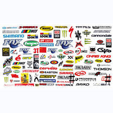 3 Sheet Cycling Bicycle Motocycle Decals Mountain Bike Skateboard Sticker Assort