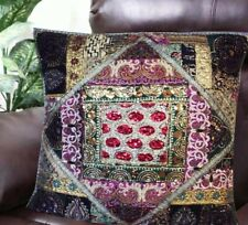 "30"" GRAY MULTICOLORED HUGE DÉCOR VINTAGE SARI FLOOR THROW CUSHION PILLOW COVER"