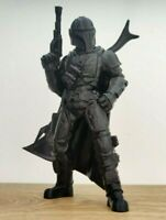 3D Printed Star Wars Mandalorian Action Figure - Glossy Black - 6 Inch / 15cm