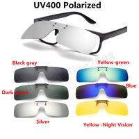 Lenti polarizzate Flip-Up Clip On Occhiali da sole UV400 Driving Glasses Night V