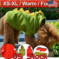 Pet Clothes Dog Puppy Cat Hoodies Warm Fleece Jacket Coat Sweater Winter Apparel