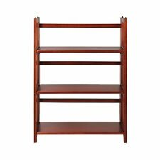 Casual Home 3-Shelf Folding Stackable Bookcase 27-inch Mahogany Free Shipping