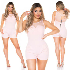 Ladies Koucla short Overall Playsuit Jumpsuit with Lace