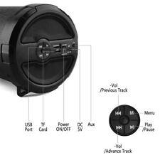 Unbranded Bluetooth USB AUX FM Radio Cylinder Music Speaker - Black