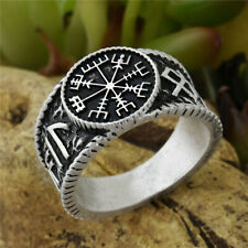 Viking Ring Vegvisir Rune Compass Norse Nordic Antique Silver
