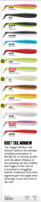 RAPALA TRIGGER X 1.5inch BOOT TAIL MINNOW - Variety of Colours 10pcs per package