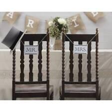 VINTAGE MR Mrs Sedia in legno da appendere cartelli RUSTICO Decorazioni Matrimonio Foto oggetti di scena