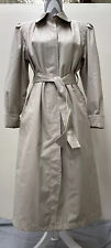 Vintage London Fog Women's 10P Belted Trench All Weather Coat Made in USA Chrty