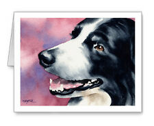 Border Collie Set of 10 Note Cards With Envelopes