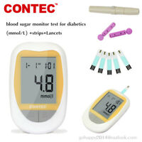 Contec Blood Glucose Sugar Monitor Meter (mmol/L mg/dL) Test Strips free Lancets