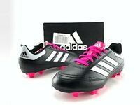 Adidas Goletto VI FG J Boys Black White Pink Soccer Cleats Youth Shoes US 3 283D