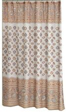 """South Beach Fabric shower curtain, 100% polyester, Size in"""" 70x72, color ivory"""