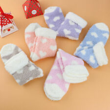 5 Pairs Winter Ladies Heart Warm Bed Cosy Lounge Soft Floor Fluffy Socks Decor