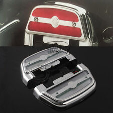LED Light Passenger Footboard Cover ABS For Harley Softail Touring Trike 1984 up