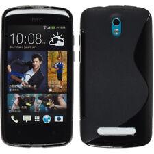 For HTC Desire 500 / 506E S Line Silicone Gel Skin Case - Anti-Slip Grip