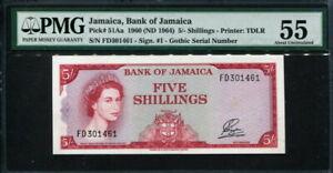 JJamaica 1960 ( 1965 ) , 5 Shillings, P51Aa, PMG 55 GEM UNC