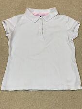 Izod Approved Schoolwear Girls Uniform Shirts Size 6 / 6X Short Sleeve White Euc