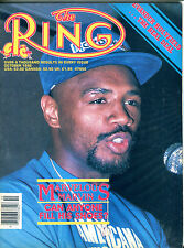 The Ring Boxing Magazine October 1986 Marvin Hagler EX 060616jhe