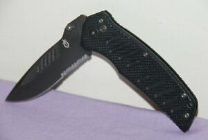 Gerber Swagger 6580415C Combo Edge Blade Tactical Pocket Knife -- Great Conditio
