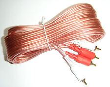 Autoleads de Phono RCA Plomo Extension 5m 500cm 01-150 CAR AUDIO AMP instalar cable
