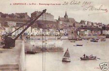 CPA Granville Le Port Remorquage d'une bouée (p84894)