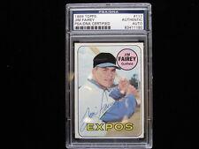 1969 Topps #117 Jim Fairey Montreal Expos Autographed Baseball Card - PSA/DNA