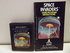 Atari 2600 Game Cartridge Space Invaders W/Manual