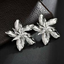 Trendy Peony Flower Drop Dangle Stud Wedding Earrings Party Women Summer Gift