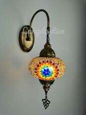 10 Designs Electric Turkish Moroccan Glass Mosaic Single Wall Light Lamp Sconce