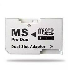 ADAPTADOR DOBLE MICRO SD SDHC MEMORY STICK PRO DUO MS PSP 1000 2000 3000 DUAL