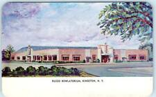 KINGSTON, New York  NY     RUZZO BOWLATORIUM  Bowling Alley  1950   Postcard