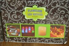 LumaBase Battery Operated Votive Candles Warm White 12 Candles