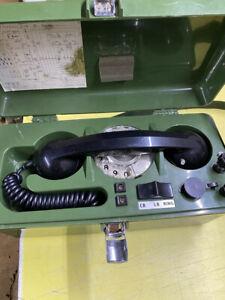 3 x Ex MOD TMC LTD UK PTC 405 Field Telephone WORKING AOK PLUS FREE BATTERY PACK