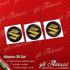 3 Adesivi Resinati SUZUKI 3D Gold 10 mm auto moto