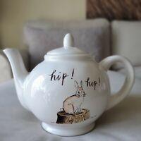 RAE DUNN by MAGENTA Artisan Collection Easter Holiday hip hop bunny Teapot