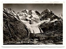Berghaus Fuorcla Surley m Berninagruppe Vintage RPPC Postcard Italy Snow Mtn