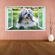 Shih Tzu Cachorro Perro Animales 3D Pared Adhesivo Mural Calcomanía Niños Niños Niñas Habitación CS30