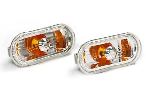 VW Passat B5 97-05 Crystal Orange Side Indicators Repeaters Pair Set Left Right