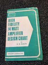 BPL High Fidelity 14Watt  Amplifier Design Chart by B.B. Babani ( Bernards )
