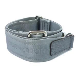Authentic LOUIS VUITTON Shoulder Strap Taiga Gracie Gray #W504082