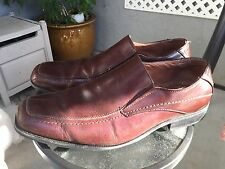 JOSEPH ABBOUD Mens Brown Leather Driving Moccasins Loafers Slip On Shoes Sz 12