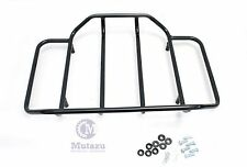 Mutazu Black Luggage Rack Top Rail for Razor Chopped King Harley Tour Pak FLHT